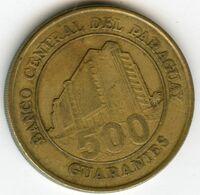 Paraguay 500 Guaranies 1998 KM 195 - Paraguay