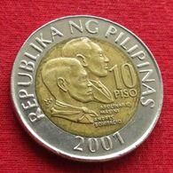 Philippines 10 Piso 2001 KM# 278  Filipinas Pilipinas Fillippijnen Filippine - Philippines
