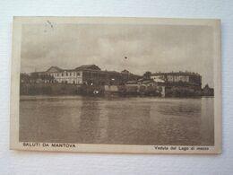 LOMBARDIA : MANTOVA (MN) VEDUTA DEL LAGO DI MEZZO VIAGGIATA  ANNO 1919   BELLA - Mantova