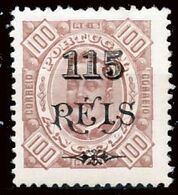 !■■■■■ds■■ Angola 1902 AF#67 * Surcharges 115/100 Chalky 12,5 (x1521) - Angola
