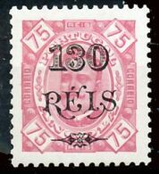 !■■■■■ds■■ Angola 1902 AF#70b * Surcharges 130/75 Lozanged 11,5 I (x1517) - Angola