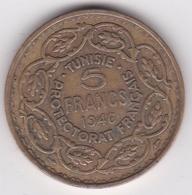 Tunisie Protectorat Français. 5 Francs 1946 (AH 1365). Bronze -Aluminium - Tunisia