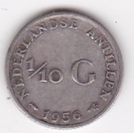 Antilles Néerlandaises 1/10 Gulden 1956, Juliana, En  Argent, KM# 3 - [ 4] Colonies