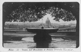 "9156 ""ROMA-VEDUTA DALL'ACCADEMIA DI FRANCIA"" - CARTOLINA POSTALE  ORIGINALE SPEDITA 1931 - Panoramic Views"