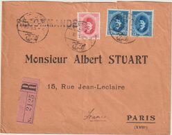 ESC Recommandée Kronberger 40 M. Port Saîd R.1 -> France 1926 - Brieven En Documenten