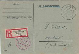 Postsache Podhůří Harta über Hohenelbe Riesengebirge - 3.8.1945 [72 Stunden Bis Hiroshima] - Einlieferungsschein - Briefe U. Dokumente