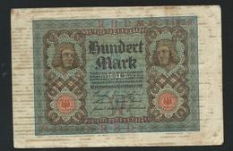 DEUTSCHLAND - ALLEMAGNE - 100 Mark Reichsbanknote - 1920  M 28774826 Laura 5406 - 100 Mark