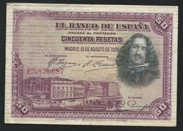 ESPAGNE 50 PESETAS 1928   E3.831,687 Laura 5409 - [ 2] 1931-1936 : Repubblica
