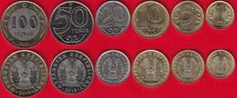 "Kazakhstan Set Of 6 Coins: 1 - 100 Tenge 2019 ""Latin Alphabet"" UNC - Kazakistan"