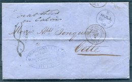 1859 Hull, Richtering, Best & Co (Coal Merchants, Ship Brokers, Forwarding Agents) Entire - Cette France - 1840-1901 (Regina Victoria)