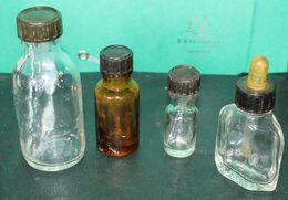 Lot De 4 Flacons Verre - Medical & Dental Equipment