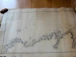 Carte Particulière Des Cotes De France Partie Entre L'Ile Grande Et Les Réaux Levée En 1837 Et 1838 - Nautical Charts