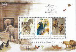 Nederland - Rien Poortvliet - Velletje - De Ark Van Noach - Zebra/pauw/giraffe - MNH - Niederlande
