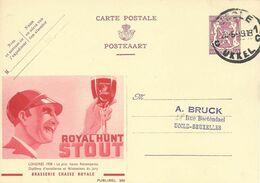 Belgique Carte Postale Publibel 360 Oblitéré Entier Postal, Bière, Beer, Bier. Brasserie Chasse Royale - Birre