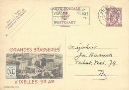 Belgique Carte Postale Publibel 326 Oblitéré Entier Postal, Bière, Beer, Bier. Brasseries D'Ixelles - Birre