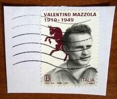 2019 ITALIA Torino Calcio Valentino Mazzola - B Usato Su Frammento - 6. 1946-.. Repubblica