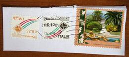 2012 ITALIA Giardini Orto Botanico Roma + Busta Che Spicca Volo -  Usato Su Frammento - 6. 1946-.. Repubblica
