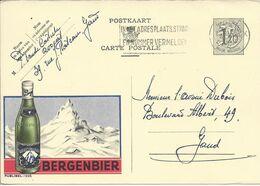 Belgique Carte Postale Publibel 1225 Oblitéré Entier Postal, Bière, Beer, Bier. Bière Bergenbier - Birre