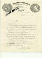 21 - Cote D'Or - Arnay Le Duc - Paris 45 Rue De Rambuteau - Lettre Proutat - Michot & Thomeret-Limes - 1851  - Réf. 46. - 1800 – 1899