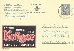 Belgique Carte Postale Publibel 1532 Oblitéré Entier Postal, Bière, Beer, Bier. Bière Kruger - Beers