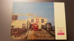 UKRAINE.  Zhmerinka. Train Depot .RAILWAY STATION - LA GARE - BAHNHOF  -  Old Postcard 1970s - Stazioni Senza Treni
