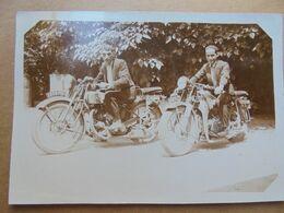 Lot De 5 Photos Moto Ancienne - Photographs