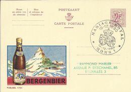 Belgique Carte Postale Publibel 1751 Oblitéré Entier Postal, Bière, Beer, Bier. Bergenbier - Beers