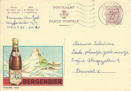 Belgique Carte Postale Publibel 1828 Oblitéré Entier Postal, Bière, Beer, Bier. Bergenbier - Beers