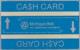USA(L&G) - Michigan Bell, Blue Card $10, CN : 707C, Tirage 10000, Mint - United States