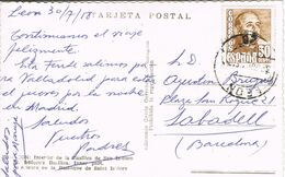 37681. Postal LEON 1958. Interior Basilica De San Isidoro - 1931-Aujourd'hui: II. République - ....Juan Carlos I
