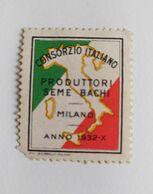 ERINNOFILI VIGNETTE CINDERELLA - CONSORZIO ITALIANO PRODUTTORI SEME BACHI 1932 MILANO - Vignetten (Erinnophilie)