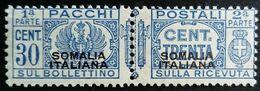 Somalie Italienne Somalia Italiana Colis Postaux Pacchi Postali Surchargé Overprinted 1928 Yvert 39 * MH - Somalia