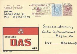 Belgique Carte Postale Publibel 2030 Oblitéré Entier Postal, Bière, Beer, Bier. Spéciale DAS - Birre