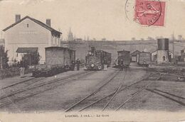 Cpa 37 - Ligueil - La Gare - Pli D'angle Bas Gauche (circulé En 1907 - Voir Scan Recto-verso) - Autres Communes
