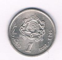 1  DIRHAM 2002  MAROKKO /7294/ - Marocco
