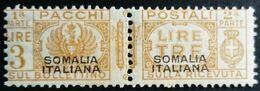 Somalie Italienne Somalia Italiana Colis Postaux Pacchi Postali Surchargé Overprinted 1928 Yvert 43 * MH - Somalia