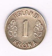 1 KRONA 1970  IJSLAND /7296// - Iceland