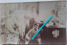 1914 Guercis Maroc Bureau Postal Militaire Télégraphe Courrier Vaguemestre Poilus Tranchée Ww1 1914-1918 1WK Carte Photo - Guerra, Militares