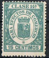 Sello Efectos De Comercio, Fiscal Clase 14 15 Cts Republica, VARIEDAD Impresion, ** - Fiscales
