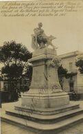 Estatua De Cervantes . La Habana.Real Photo Inauguracion 1 De Noviembre 1908. Autograph Ernesto Asbert - Cuba