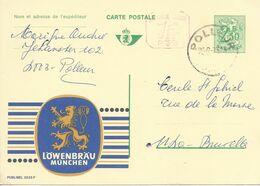 Belgique Carte Postale Publibel 2525F Oblitéré Entier Postal, Bière, Beer, Bier. Lowenbrau - Birre