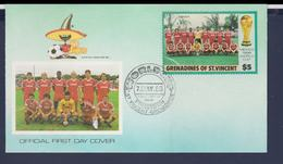Grenadines Of St. Vincent FDC 1986 FIFA World Cup Football In Mexico (G116-3) - World Cup