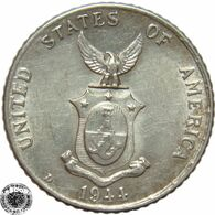 LaZooRo: Philippines 10 Centavos 1944 D UNC - Silver - Philippines