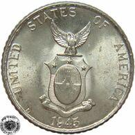 LaZooRo: Philippines 10 Centavos 1945 D / D UNC - Silver - Philippines