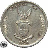 LaZooRo: Philippines 20 Centavos 1944 D XF / UNC - Silver - Philippines