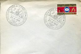 58489 Italia,special Postmark 1969 Alesso Udine,operazione Sub.atlantide,plongée,diving,Tauchen, Sporttaucher - Tauchen