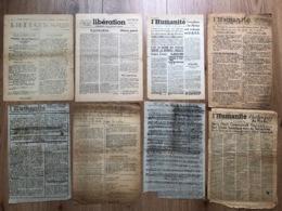 8x Documents Divers Liberation Humanite - 1939-45