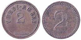 00861 GETTONE TOKEN JETON FICHA VENDING SPILLAERMARKE VAERDI MAERKE 2 CRONE - Tokens & Medals