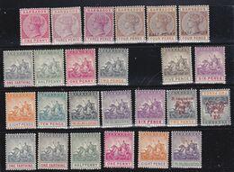 Barbados   1882-1907  Regina Vittoria  Lotto Di 25 Francobolli Nuovi   * / * *  Vedi Scansione - Barbados (...-1966)