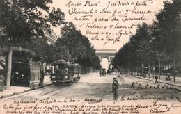 CPA - PARIS - Avenue De La Gde ARMEE (Station TRAMWAY) ... - Edition ? - Transporte Público